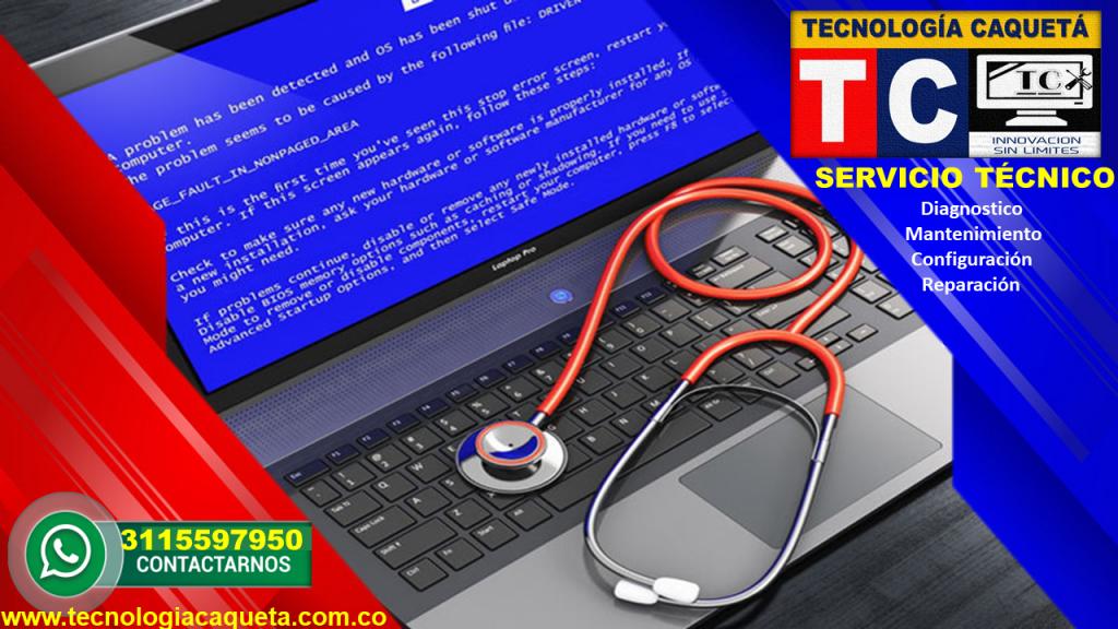 Tecnologia Caqueta - Servicio Tecnico Especializado-Diagnostico-Manteniiento-Configur9